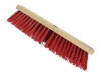Straßenbesen 400 x 65mm Hartholz  PVC Besatz rot