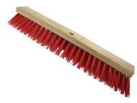 Straßenbesen 600 x 75mm Hartholz  PVC Besatz rot