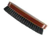 Kleiderbürste  schwarz Kunstborste Holzkörper braun lackiert