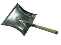 Kehrschaufel Metall Stahlblech verzinkt mit Holzstiel