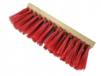 Straßenbesen 300 x 70mm Hartholz  PVC Besatz rot
