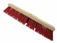 Strassenbesen 500 x 75mm Hartholz  PVC Besatz rot